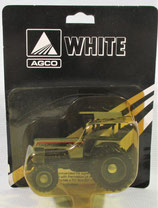 White 145 FWA with Duals Tractor Silver & Black 1/64