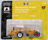 Minneapolis Moline G-750 and 5-Star Set Ertl 1/64