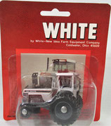 White 185 with Duals Tractor Silver & Gray 1/64