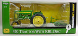 John Deere 420 W/F tractor with KBL Disc Precision