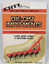 Case Implement Plow 6 Bottom 1/64 Ertl