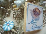 Merry Christmas - versilberte Weihnachts-Schmuckgirlande