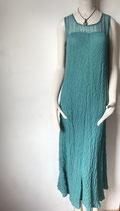 langes Seidenkleid mit transparentem Einsatz Pola