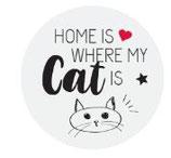 Kronkorken - Schlüsselanhänger - home is where my cat is