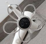 Große Blume Schwarz Druzy Effekt Anhänger