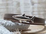 Kinderarmband Haifisch braun