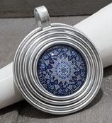 Spirale Mandala Blau Anhänger