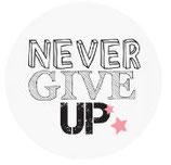 Schlüsselanhänger - Never give up