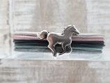Kinderarmband bunt mit Pferd