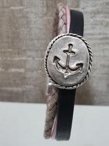 Anker Armband 10 mm Blau Rosa Creme