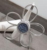 Große Blume Blau Glitzer Anhänger