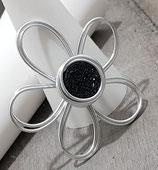 Kleine Blume Schwarz Anhänger