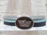 Armband mit Schiff 10 mm Blau Türkies