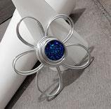 Kleine Blume Blau Druzy Effekt Anhänger