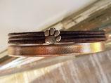 Tatzen Armband 10mm Rosegold - Braun