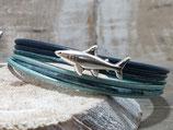 Kinderarmband Haifisch türkies-blau