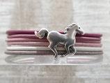 Kinderarmband Rosa mit Pferd