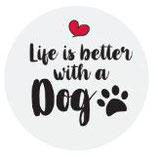 Kronkorken - Schlüsselanhänger - Iife is better with a dog