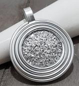 Spirale mit Silber Druzy Effekt Anhänger