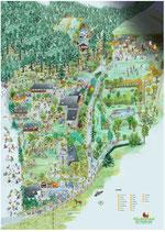 Wimmelbild-Poster  des Abenteuerdorfes  Wittgenstein