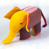 Elefant Almi - Lila/gemustert