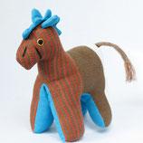 Pony Sam - Weiß/blau/braun/gestreift