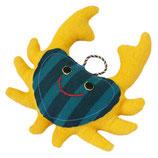 Krabbe Berta - Gelb/dunkelgrün gestreift