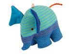 Elefant Jonas - Hellgrün/ blau/ gestreift