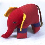 Elefant Almi - Rot/Blau/gestreift