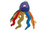 Octopus Olaf - bunt/gelb (Unterseite stark gemustert)