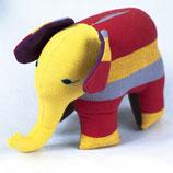 Elefant Almi - Gelb/Rot/gestreift