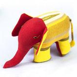 Elefant Almi - Gelb/gemustert