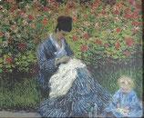 モネ「カミーユ・モネと子供」作品のみ ※和紙に印刷