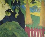ゴーギャン「アルルの病院の庭にて」作品のみ ※和紙に印刷
