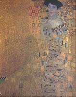 クリムト「アデーレ・ブロッホバウアーの肖像」作品のみ ※和紙に印刷