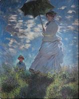 モネ「散歩・日傘をさす女性」作品のみ ※和紙に印刷