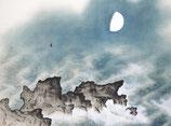 横山大観「海潮四題・夏」作品のみ ※和紙に印刷