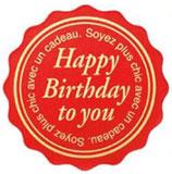 メッセージシール Happy Birthday