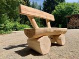 Holzbank rustikal