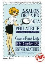Carte postale pour le 2ème salon BD caserne Fonck