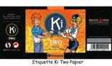 Etiquette papier de la bière KiTwo