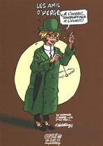 Souvenir des Amis d'Hergé 2017 - Ex-libris numéroté et signé