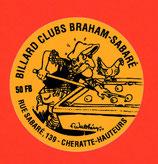 Autocollant club de Billard Braham  -  1994