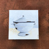 Emaille Suppen-Schüssel 1 auf Keilrahmen