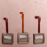 3-er Set Glasrähmchen zum Aufhängen Messing
