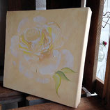 Rose 4 in Öl auf Leinwand