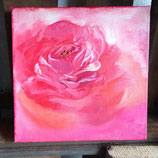 Rose 1 in Öl auf Leinwand