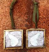 Mini-Unikate Flügel-Päärchen zum aufhängen (Messing) 04102106 F