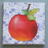 Apfel auf Bauernbettwäsche 5