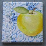 Apfel auf Bauernbettwäsche 3